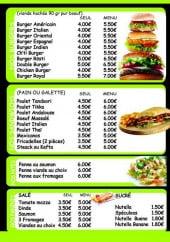 Menu Saveurs du monde - Les burgers, pains...