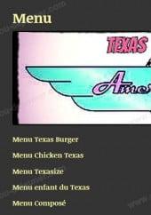 Menu Texas Diner - Les menus