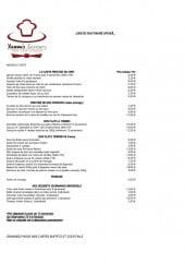 Menu Yannis Saveurs - Les prestiges du chef, plats à thème,...