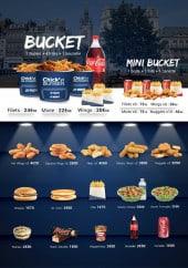Menu Chick'n Burger - Les buckets, salades, desserts...