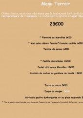 Menu Le Temps Des Mets - Le menu terroir