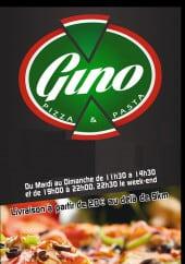 Menu Gino pizza e pasta - Carte et menu Gino pizza e pasta Maubeuge