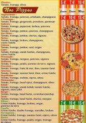 Menu Pizza Home - nos pizzas