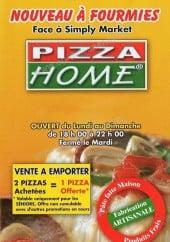 Menu Pizza Home - pizza home fourmies menu et carte