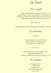Menu La juste Place - Les menus à la carte