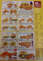 Menu All Chicken - Les menus, les poulets, les nuggets...