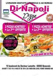 Menu Di Napoli pizza - Carte et menu Di Napoli pizza Beauvais