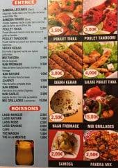 Menu Pk food - Entrées et boissons