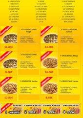 Menu La Pause Pizza - Les pizzas