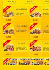 Menu La Pause Pizza - Les menus