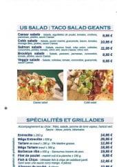 Menu Happy Diner - Salades, spécialités et grillades