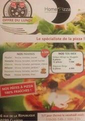 Menu home pizza - Paninis et tex mex