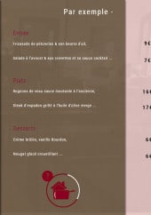 Menu Bistrot du Chateau - Un exemple de menu