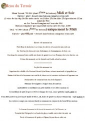 Menu Bistrot du terroir - Le menu du terroir