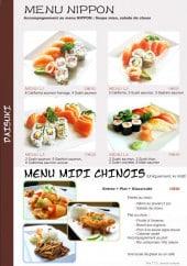 Menu Daisuki - Menu nippon et menu midi chinois