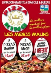 Menu Pizza king - carte et menu Pizza king Margny-lès-Compiègne