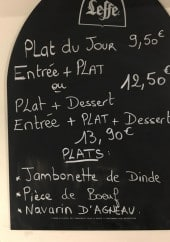 Menu Aux Quatre Vents - Exemple de menu