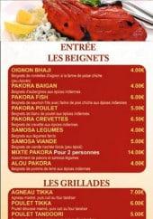 Menu Lal Qila - Les beignets, grillades et salades