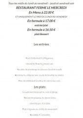 Menu L'atelier du blanc Manger - Menu 22€