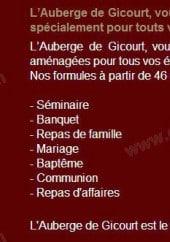 Menu Auberge de Gicourt - Les prestations de l auberge