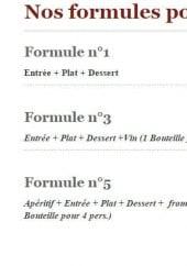 Menu Le Hussard - Formule groupes