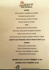 Menu Rive droite - Les entrées, plats...