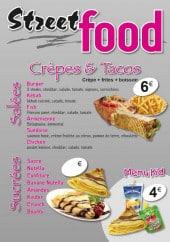 Menu StreetFood - Crêpes et tacos