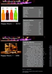Menu Bulles Bazar - Les softs et whiskys