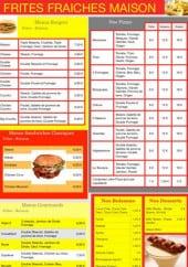 Menu La toscane - Les formules menus(suite) et les menus à la carte