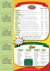 Menu Lucky Pizza - Les pizzas, les snacks et friteries