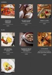 Menu Hermitage de Fampoux - Les entrées et plats
