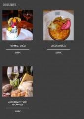 Menu Hermitage de Fampoux - Les desserts