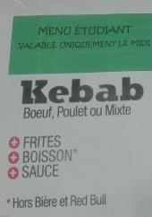 Menu Kebab Délice - Menu étudiant
