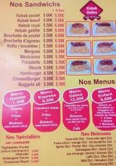Menu Kebab Délice - Sandwiches, menus, spécialités,...