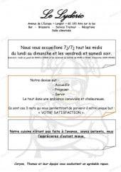 Menu Le Lydéric - Carte et menu Le Lydéric Aire sur la Lys