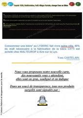 Menu Le Lydéric - Les informations sur les menus