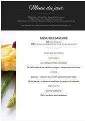 Menu Les Saveurs du Parc - Le menu du jour et menu des saveurs