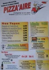 Menu Pizza'Aire - Les tapas, le menu bambino, les desserts...