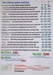 Menu Pizza'Aire - Les pizzas et menus