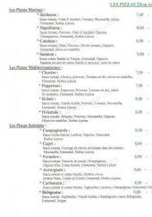 Menu Pizzeria Roma Delicia - Les pizza: les marines, méditerranéennes,...