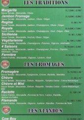 Menu Au Gout Roman - Les pizzas aux fromage,viandes....