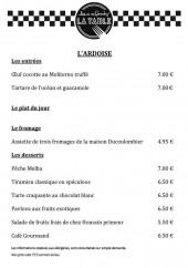 Menu La Table aux enfants - Entrées, plats, desserts...