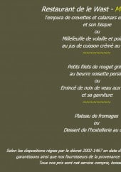 Menu Château des tourelles - Le menu 26 €