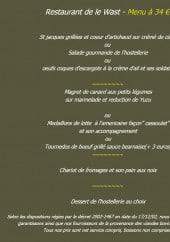 Menu Château des tourelles - Le menu 34 €