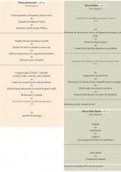 Menu O'resto - Les menus