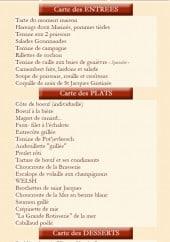 Menu Hamiot - Les entrées, plats et desserts