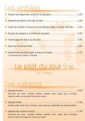 Menu L'aurore - Les entrées, salades et omelettes