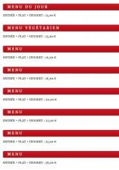 Menu La Pierre Chaude - Les menus