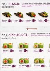 Menu Le palais de matsuyama - Les témaki et spring rolls