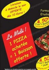 Menu Baboune Pizza - les menus et formules
